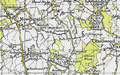 Old map of Cudworth in 1940