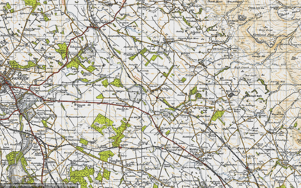 Old Map of Historic Map covering Whinfell Ho in 1947