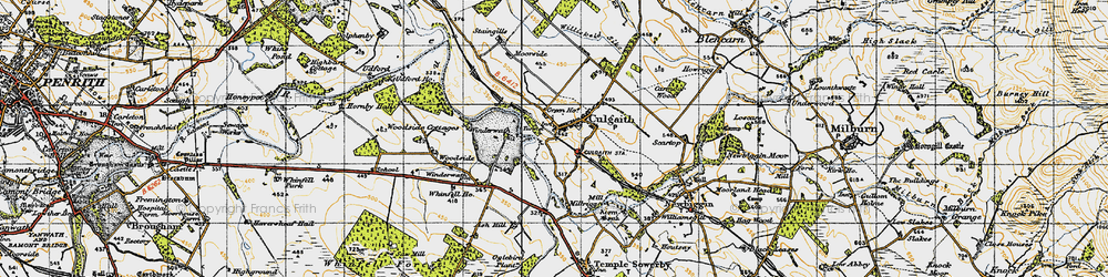 Old map of Whinfell Ho in 1947