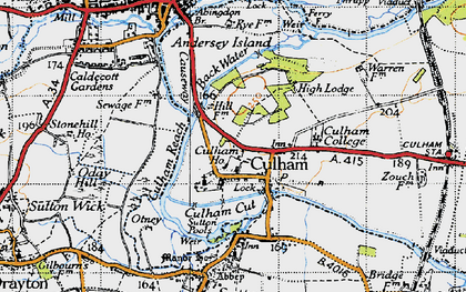 Old map of Culham in 1947