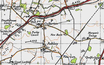 Old map of Wickfield Wood in 1947