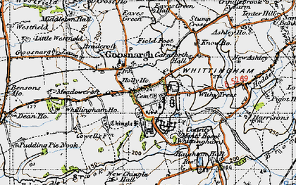 Old map of Withy Trees in 1947