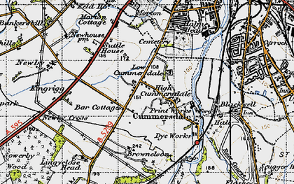 Old map of Cummersdale in 1947