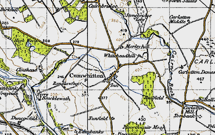 Old map of Whitehead Hill in 1947
