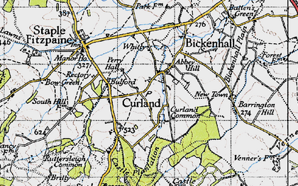 Old map of Whitty in 1946