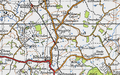 Old map of Apsley in 1940