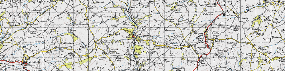 Old map of Wheeldon in 1946