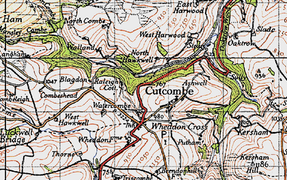 Old map of Ashwell in 1946