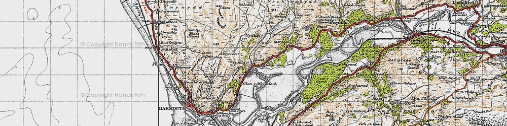 Old map of Cutiau in 1947