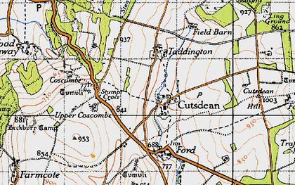 Old map of Cutsdean in 1946