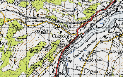 Old map of Wouldham Marshes in 1946