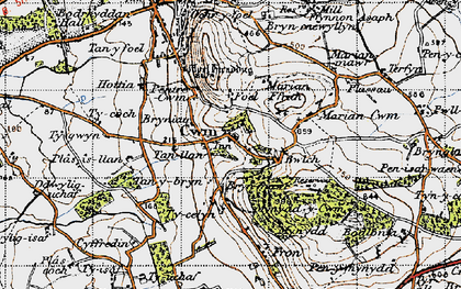 Old map of Cwm in 1947