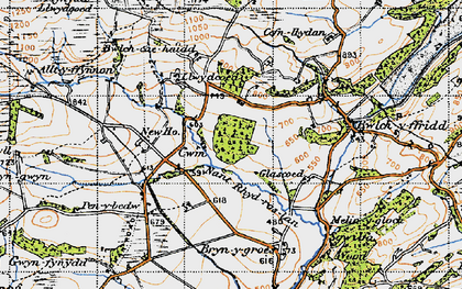 Old map of Alltyffynnon in 1947