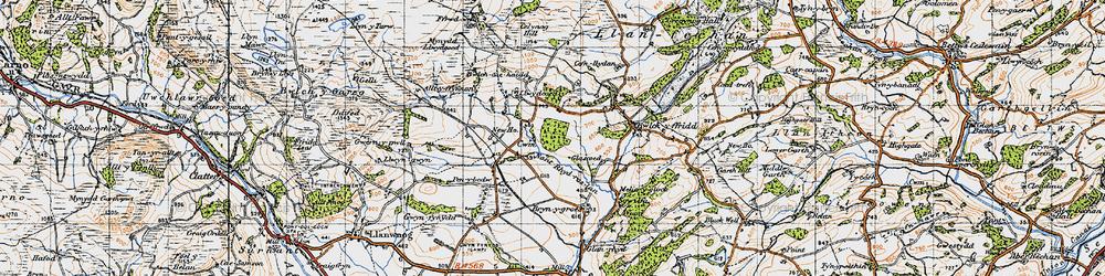 Old map of Alltyffynnon in 1947