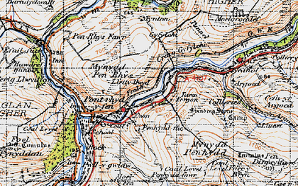 Old map of Afan Argoed Forest Park in 1947