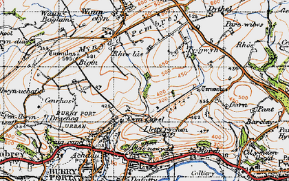 Old map of Cwm Capel in 1946
