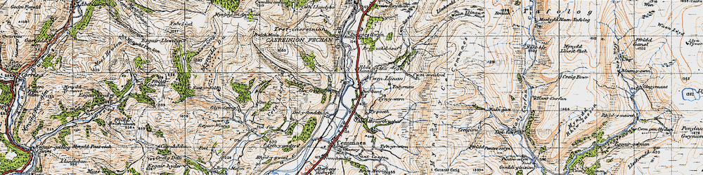 Old map of Dôl-y-bont in 1947