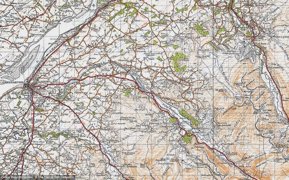Old Map of Cwm-y-glo, 1947 in 1947