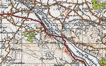 Old map of Cwm-y-glo in 1947