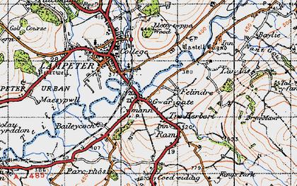 Old map of Lan-las in 1947