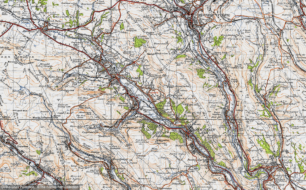 Old Map of Cwmbach, 1947 in 1947