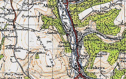 Old map of Cwmcarn in 1947