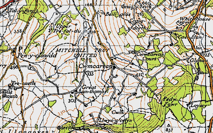 Old map of Bailey Glace in 1946