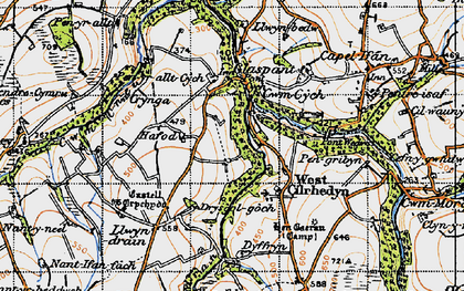Old map of Cwmcych in 1947