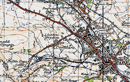Old map of Cwmdare in 1947