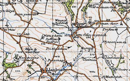 Old map of Cwmfelin Mynach in 1946