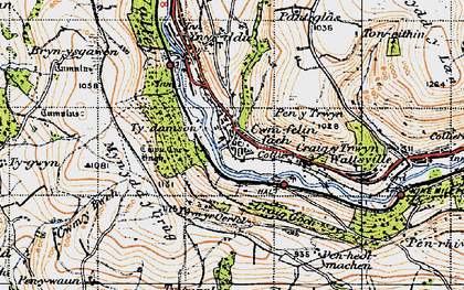 Old map of Ynys Hywel in 1947