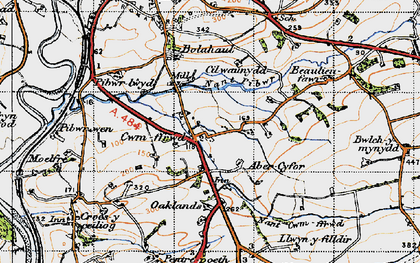 Old map of Abercyfor Uchaf in 1946