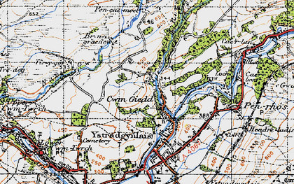 Old map of Cwmgiedd in 1947