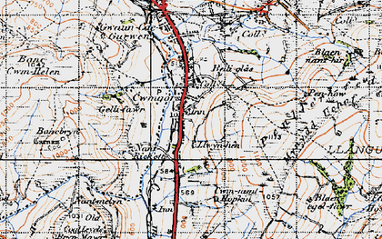 Old map of Bancbryn in 1947