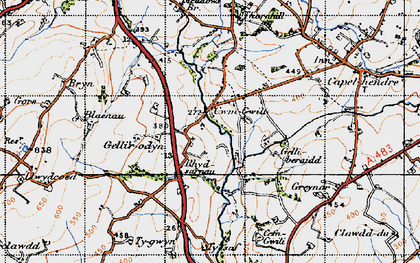 Old map of Tir-isaf in 1947