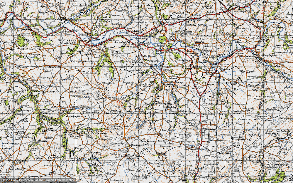 Old Map of Historic Map covering Tomenseba in 1947