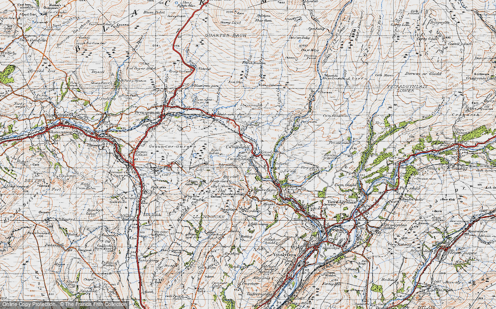 Old Map of Cwmllynfell, 1947 in 1947