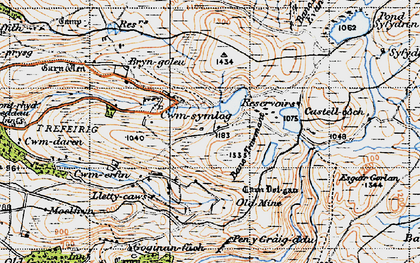 Old map of Banc Trawsnant in 1947