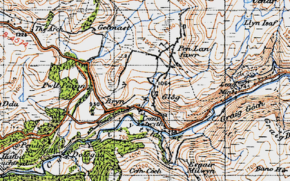 Old map of Allt Dihanog in 1947