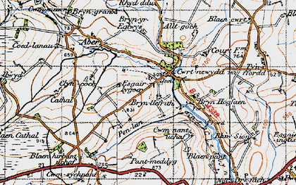 Old map of Alltgoch in 1947