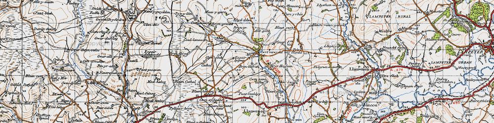 Old map of Alltgoch in 1947