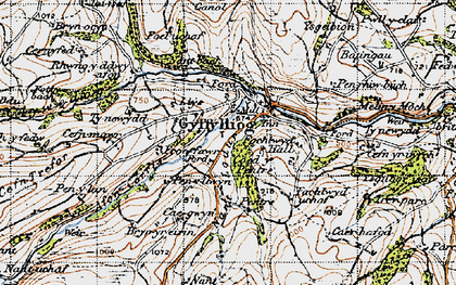 Old map of Cyffylliog in 1947