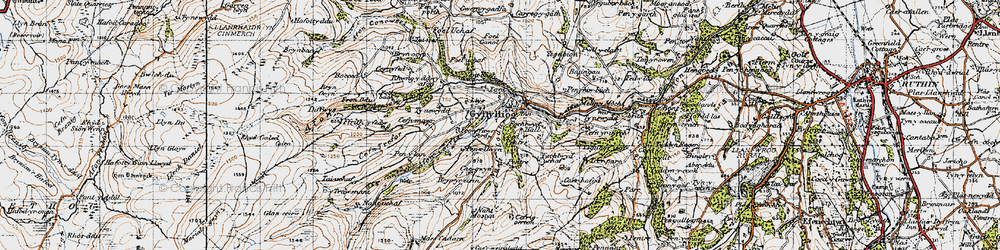 Old map of Afon Corris in 1947