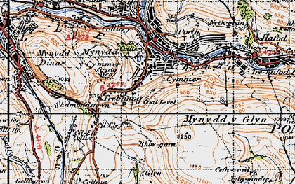 Old map of Cymmer in 1947