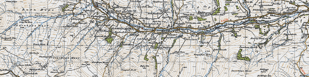 Old map of Daddry Shield in 1947