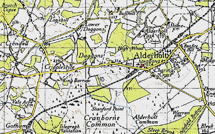 Old map of Alderholt Park in 1940