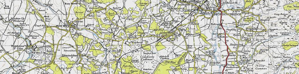 Old map of Alderholt Park in 1940