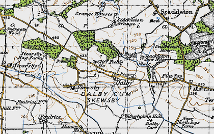 Old map of Witherholme Hall in 1947