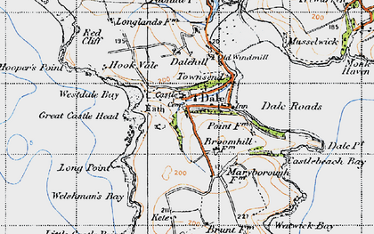 Old map of Dale in 1946