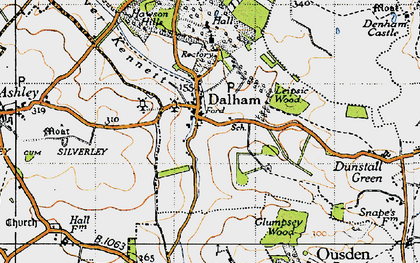 Old map of Leipsic Wood in 1946